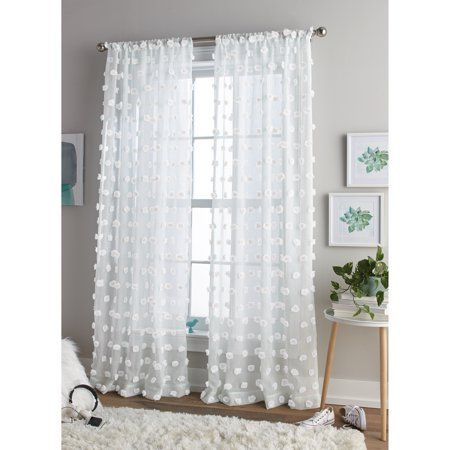 Better Homes And Gardens Dot Rod Pocket Curtain Walmart Com Curtains Rod Pocket Curtains Unique Bedroom Design