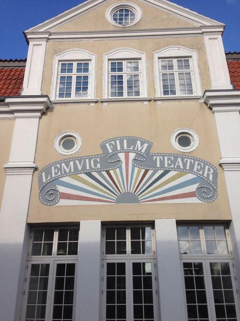 Sikke En Flot Facade Til En Biograf Lemvig Oktober 14 Danmark Og Biograf