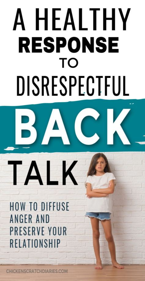 Mouthing and talking back and how to address it.