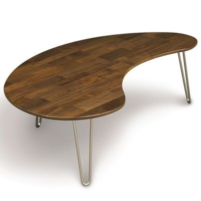 Essentials Kidney Shaped Coffee Table Coffee Table Modern