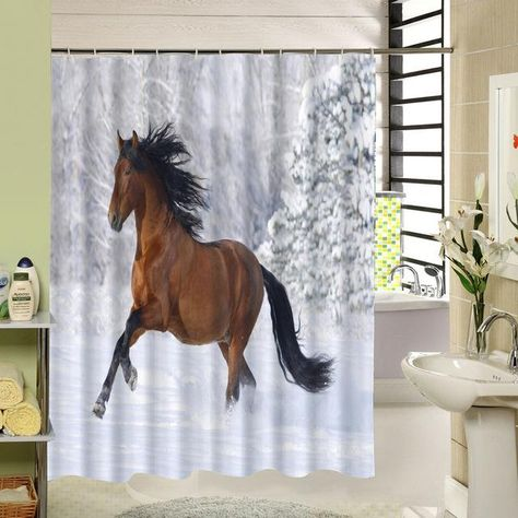 Horse Pattern Shower Curtain Horse Shower Curtain Fabric Shower Curtains