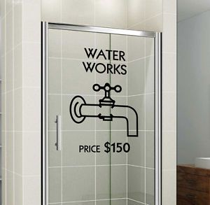 Monopoly Waterworks   Shower Door Or Bathroom Wall Decal | Bathroom Wall  Decals, Waterworks And Monopoly