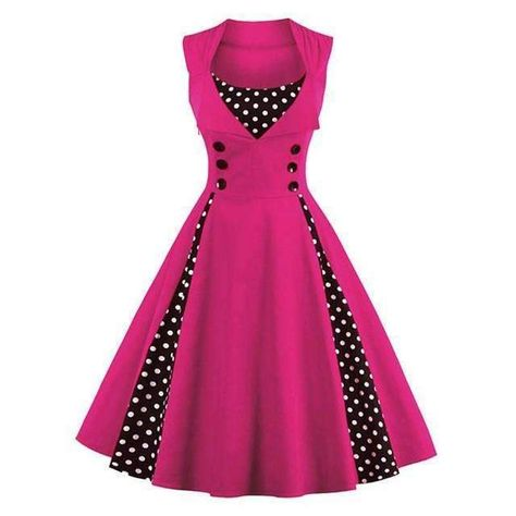 Vintage Ethnic Print Retro Rockabilly Pinup 50s Party Swing Dress Plus Size 4XL