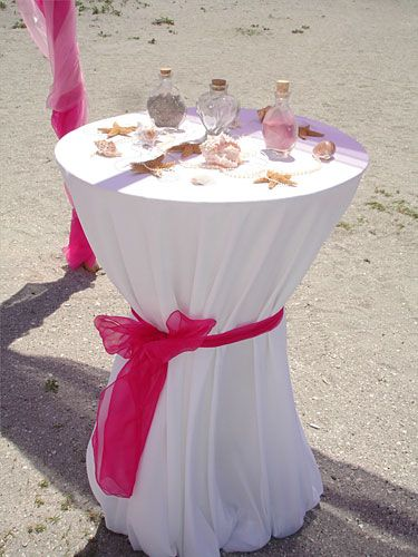 Google Image Result For Floridasunweddings Beach Packages Sand Ceremony Tall Table Wedding Venice