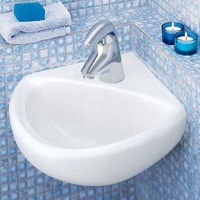 American Standard Corner Minette Wall Mount Bathroom Sink For Wall Hangers Sink Finish White Cont Bathroom Sink Wall Mounted Bathroom Sinks Wall Mounted Sink
