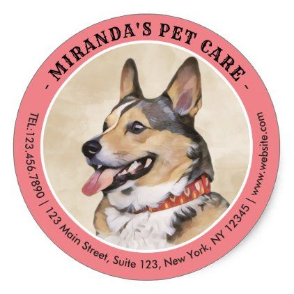 Pet Care Grooming Sitting Bathing Dog Beauty Salon Classic Round Sticker Zazzle Com Pet Care Beautiful Dogs Pets