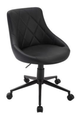 Fauteuil De Bureau Aisance Coloris Marron Noir Conforama En 2020 Fauteuil Bureau Fauteuil Fauteuil Confortable