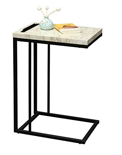 Ehemco Slide Under Sofa Side Table With Faux Marble Top A Https