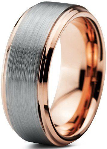 16 Women Ring Size Gemini Groom /& Bride 18K Gold Filled Anniversary Wedding Titanium Rings Set Width 6mm /& 4mm Men Ring Size 4.5
