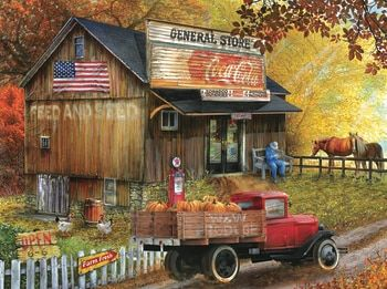 SUNSOUT INC Countryside Living 300 pc Jigsaw Puzzle