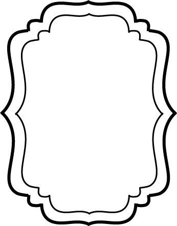 Basic frame element for the jar label, created in Adobe Illustrator.