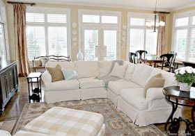 Pottery Barn Knock Off Jcpenney Slipcovered Sectional Review White Furniture Living Room Pottery Barn Living Room