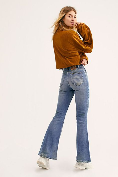 Lee High Rise Flare Stretch Jean
