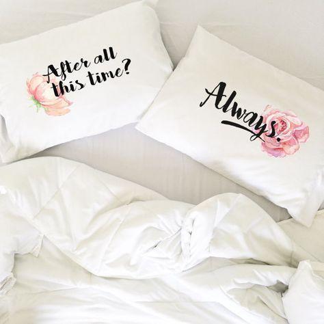 Regalo de la boda las parejas fundas Harry Potter después de todo este tiempo siempre almohadas larga distancia relación regalo LDR fundas de almohada amor siempre