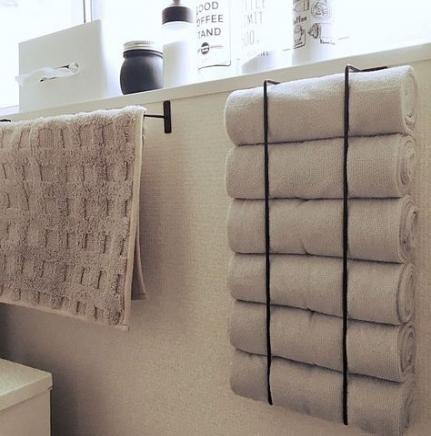 36 Trendy Bath Room Ideas Diy Small Towel Racks インテリア 収納 部屋のdiy タオル 収納 アイデア