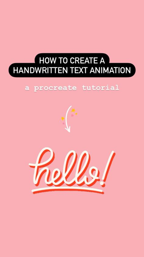 How To Create A Handwritten Text Animation In Procreate