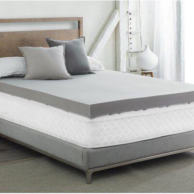 Alwyn Home Clarendon 4 Bedding Memory Foam Mattress Topper Bed Size King In 2020 Twin Xl Bedding Memory Foam Mattress Topper Mattress Buying