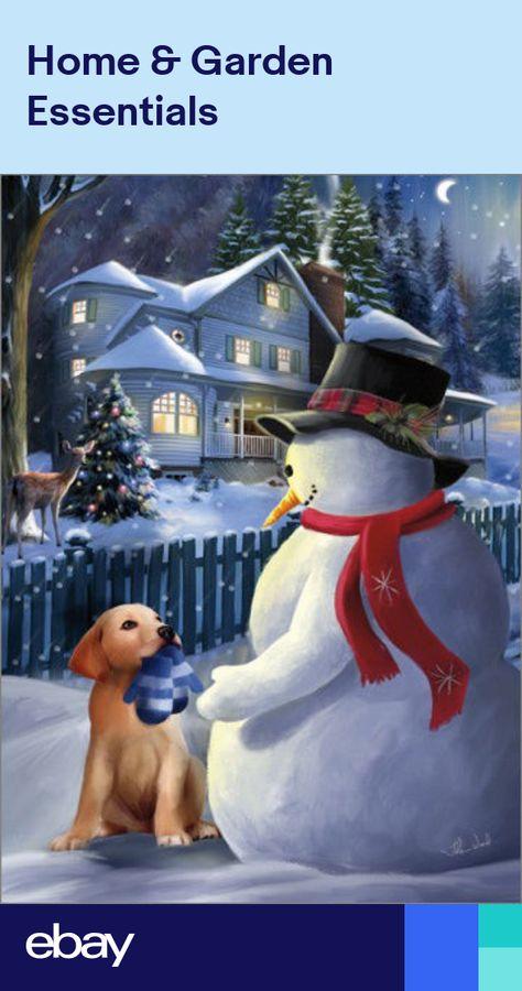 A Christmas Gift Thomas Wood Box of 18 Snowman Christmas Cards by LPG Greetings