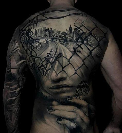 51ec67898 Amazing full back tattoo - 100 Awesome Back Tattoo Ideas