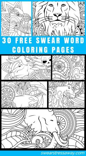 swear word coloring page swearstressaway Swear Word Coloring - copy coloring pages to color free online