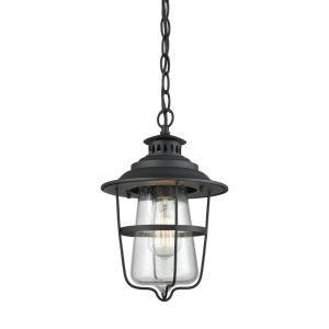 Titan Lighting Harmelin 1 Light Matte Black And Satin Brass Pendant Tn 473111 In 2020 Black Pendant Light Outdoor Pendant Lighting Outdoor Hanging Lights