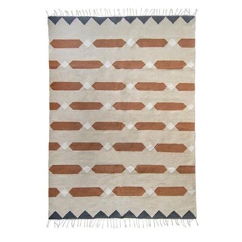 Bricks Flatwoven Wool Kilim Rug Burnt Orange Rust Beige Gray Etsy Modern Kilim Modern Kilim Rug Wool Kilim Rug