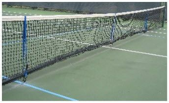 How To Adjust A Tennis Net To Regulation Pickleball Height Howtoplaytennis Pickleball Court Tennis Court Basketball Workouts