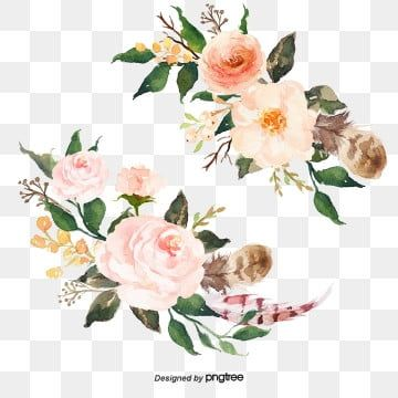 Small Fresh Flowers Painted Small Fresh Fresh Flowers Png Transparent Clipart Image And Psd File For Free Download Watercolor Flowers Flower Frame Png Free Watercolor Flowers