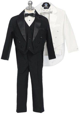 Fougerkids 5 Piece Big Boys Wedding Formal Suit