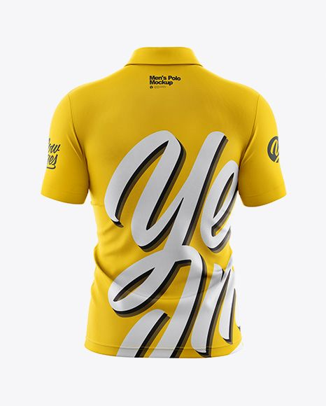 Download Men S Polo Mockup Back View In Apparel Mockups On Yellow Images Object Mockups Shirt Mockup Clothing Mockup Mockup