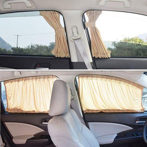 Best Seller 2pcs/set Aluminum Alloy Elastic Car Side Window Sunshade Curtains Auto Windows Curtain Sun Visor Blinds Cover car-styling SML