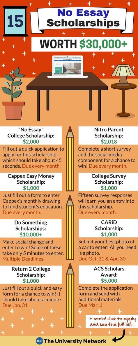 cool essay scholarships Before you give up on the idea of getting a scholarship, take a look at this list of the weirdest college scholarships out there with scholarships as strange as these, you may be eligible for more free college funding than you think.