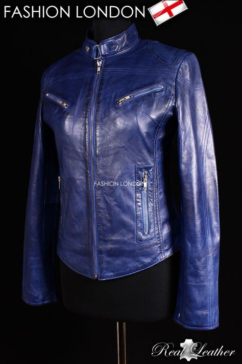 CRUSH Grey Ladies Biker Style Fitted Real Lambskin Designer Leather Jacket