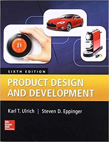 Product Design And Development 6th Edition By Karl Ulrich Isbn 13