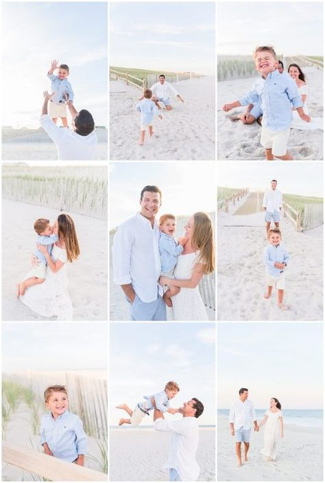 Fall is family photo season and this New Jersey beach session will not disappoint! Let these photos inspire your next family session location and outfit ideas! Great for engagement session inspiration too! Summer Family Pictures, Beach Family Photos, Hawaii Pictures, Beach Pics, Beach Picture Outfits, Family Picture Outfits, New Jersey, Family Beach Portraits, Family Posing