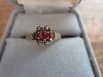 Antique Victorian 10k Yellow Gold Pearl /& Diamond Ladies Ring