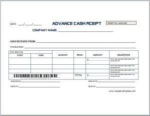 Sample Advance Receipt Template Receipt Template Invoice Layout Templates