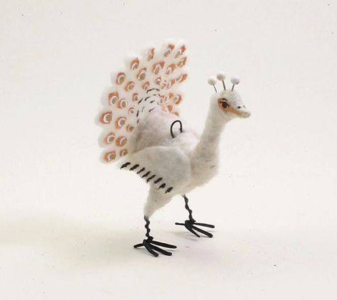Vintage Inspired Spun Cotton Peacock Figure от VintagebyCrystal, $38.00