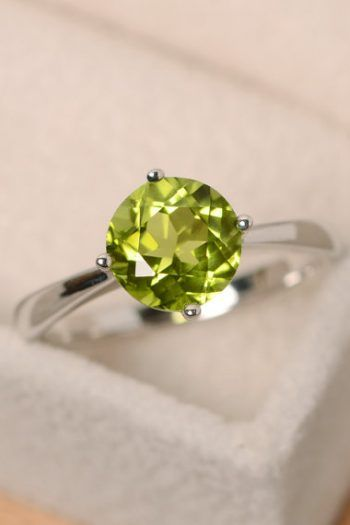 gift for woman,anniversary gift sterling silver ring Peridot RING bridal ring cocktail ring,self gift engagement ring bridal jewellery