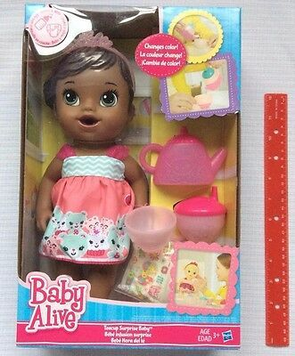 Baby Alive Teacup Surprise Doll Tea Party Aa African American Drinks Wets New Baby Alive Baby Doll Set Baby Alive Dolls
