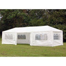 Zeny 10 X20 Outdoor Canopy Party Wedding Tent White Gazebo Pavilion With6 Side Walls Walmart Com Party Tent Wedding Party Tent Canopy Tent
