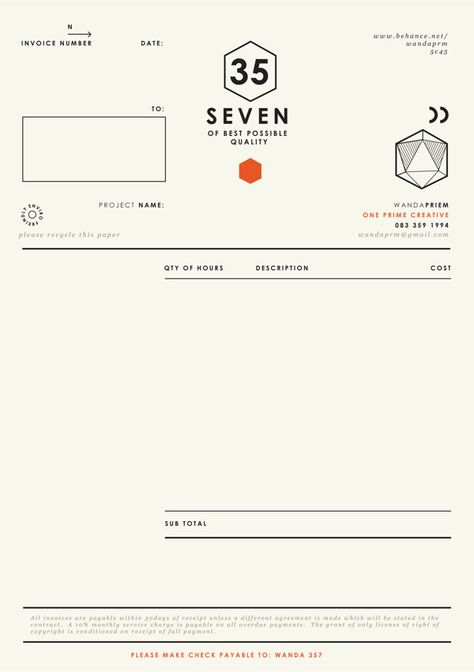 17 Best images about INVOICE on Pinterest Logos, Self promotion - how to design an invoice