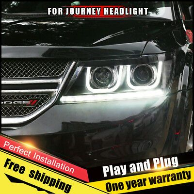 Ad Ebay For Dodge Journey Headlights Assembly Bi Xenon Len Double