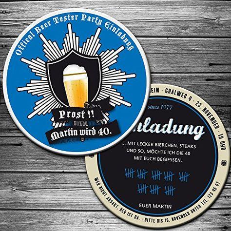 Bierdeckel Biertester Einladung Karte 25 Stuck Bierfilz Https