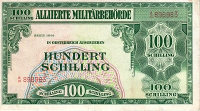 Scwpm P110a Tbb B309 100 Schilling Austrian Banknote Fine F 1944 The 100 Notes Money