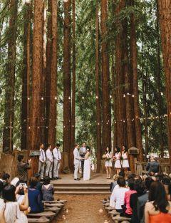 Campground Wedding Venues Michigan Forest Wedding Venue Redwood Forest Wedding Camp Wedding