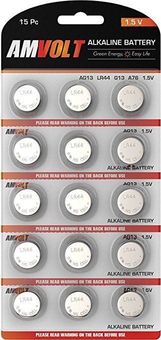 15 Pack Lr44 Ag13 Battery Ultra Power Premium Alkaline 1 5 Volt Non Rechargeable Round Button Cell Batteries For Watche Button Cell Game Controller Remotes