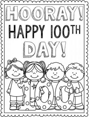 100 Days Coloring Pages : coloring, pages, Printable, School, Coloring, Pages, Sheets, Project,, Pages,
