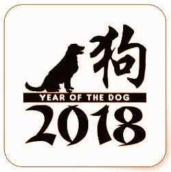 Chinese new year 2018 Dog  New year lucky color 2018 to wear