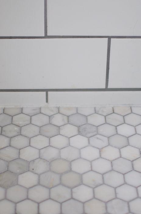 carrera marble hexagon floor tile